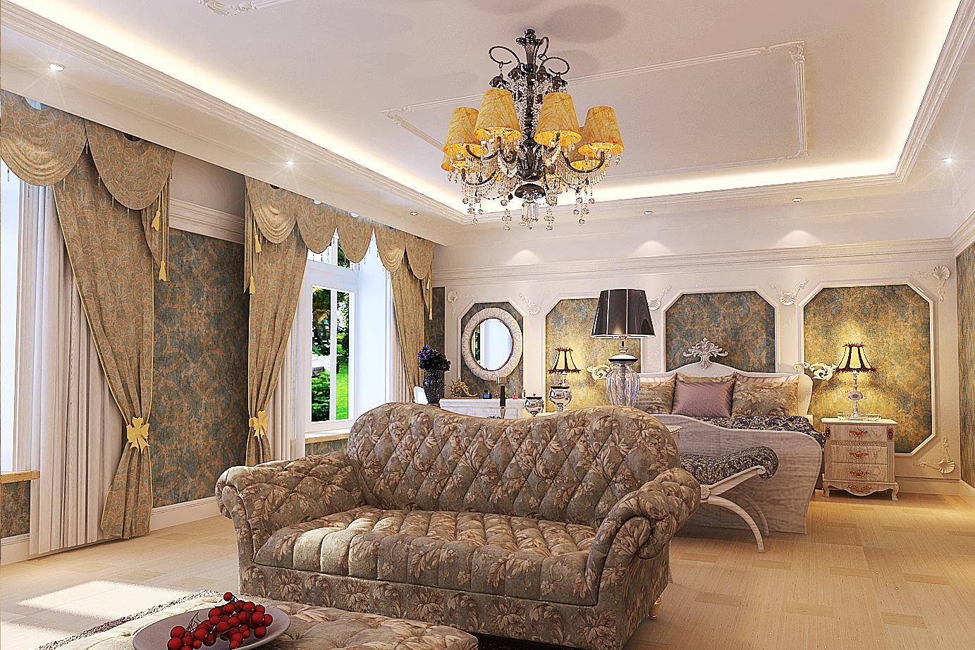 欧式别墅卧室