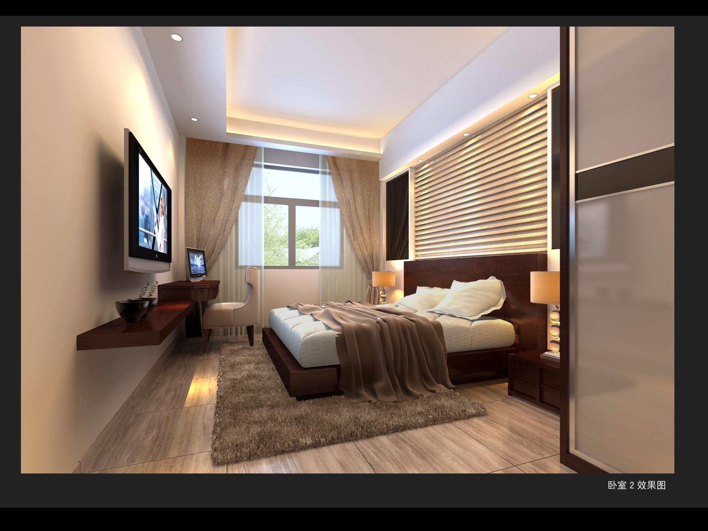 家装卧室_视角空间设计工作室案例展示_一品威客网