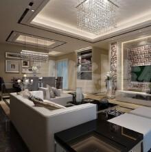 蓝湾国际普通住宅3室2厅2卫现代装修案例效果图