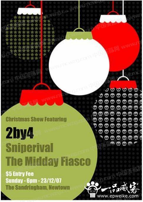 精美的创意圣诞海报设计 圣诞节海报设计欣赏