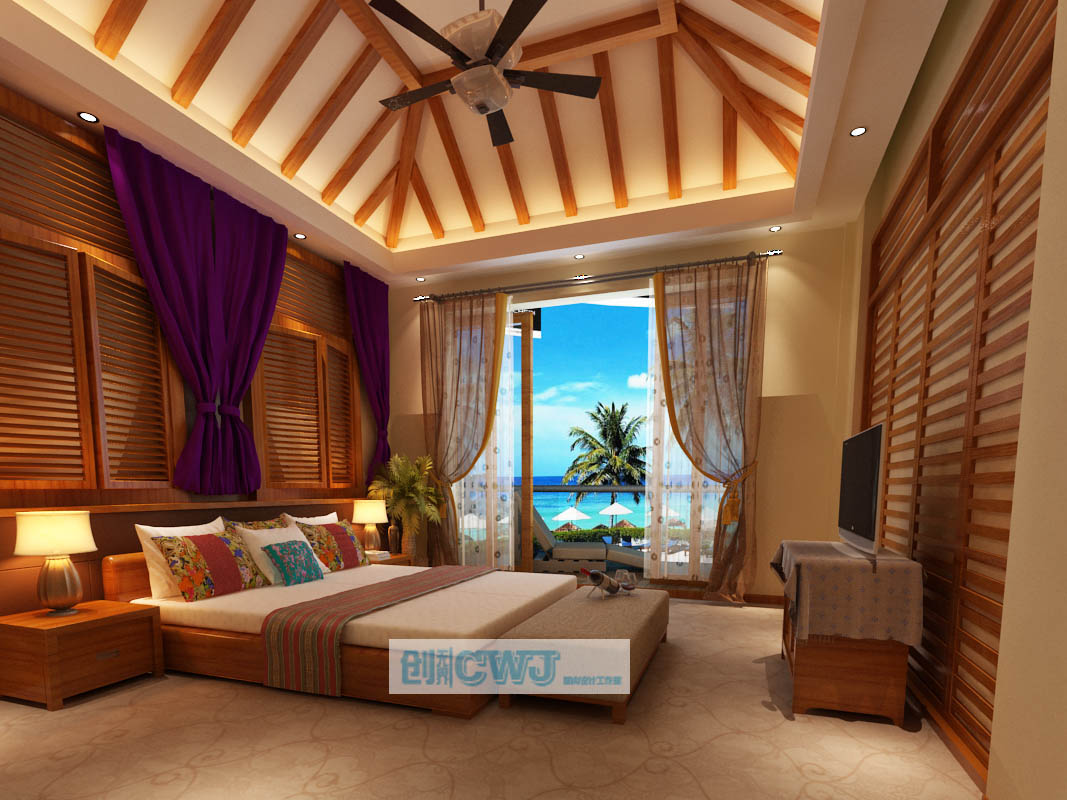 东南亚酒店室内设计_创无界案例展示_一品威客网