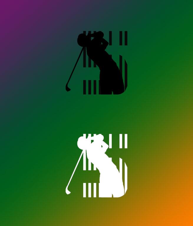 高尔夫球队logo设计图展示