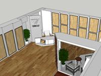 瑞嘉地板专卖店效果图简意施工图设计