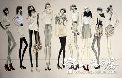 服装设计模特画法步骤图