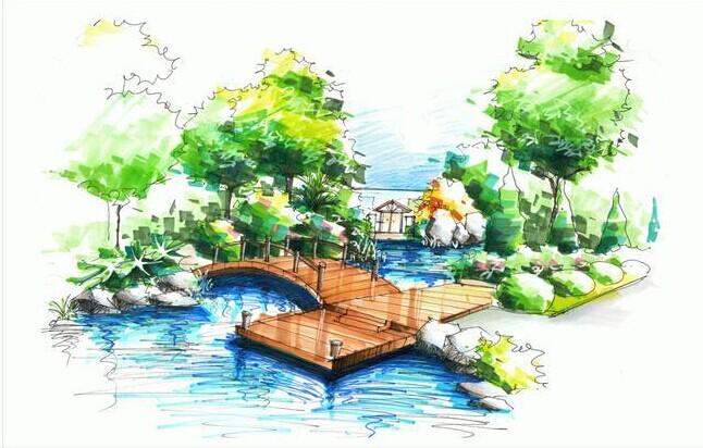 园林景观手绘平面图