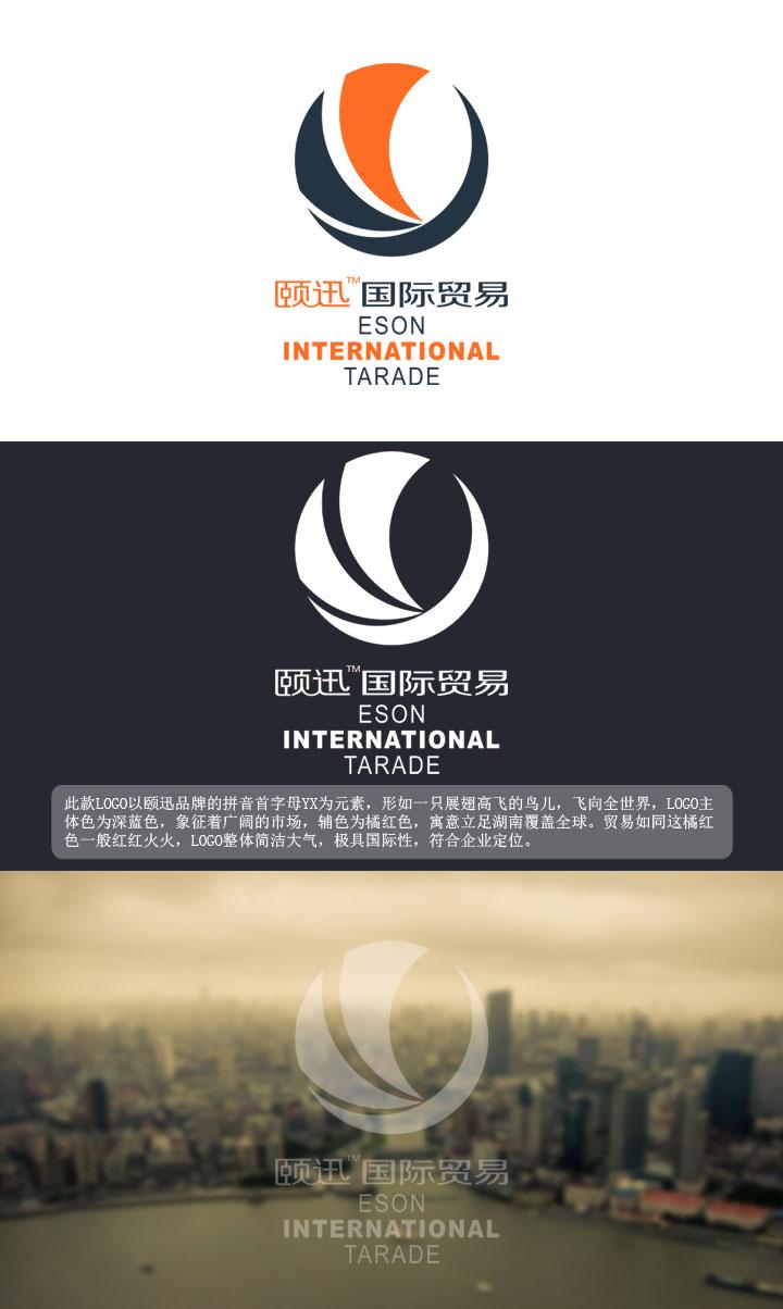 湖南颐迅国际贸易有限公司logo设计