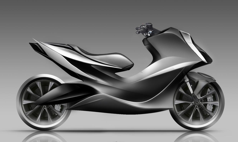 鹰驰电动摩托车外观设计