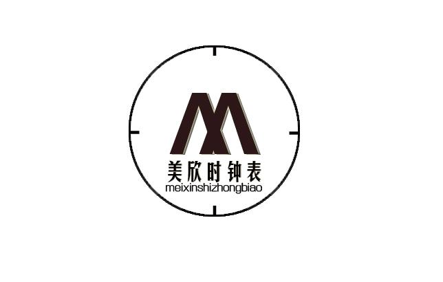 时钟 logo 手绘