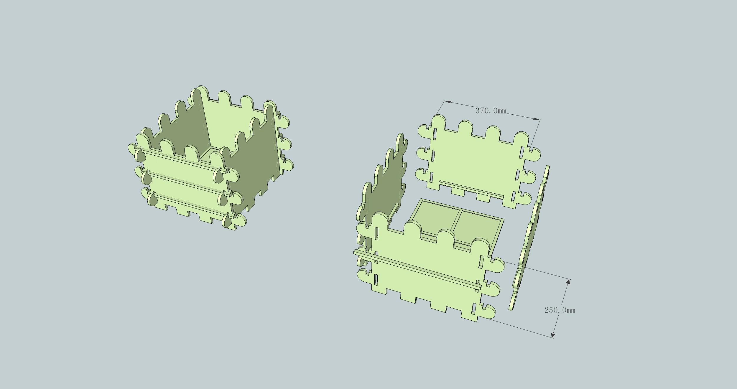 阳台园艺的产品结构设计