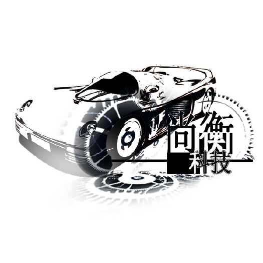 创意齿轮黑白手绘