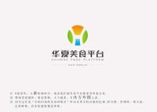 华夏美食平台logo