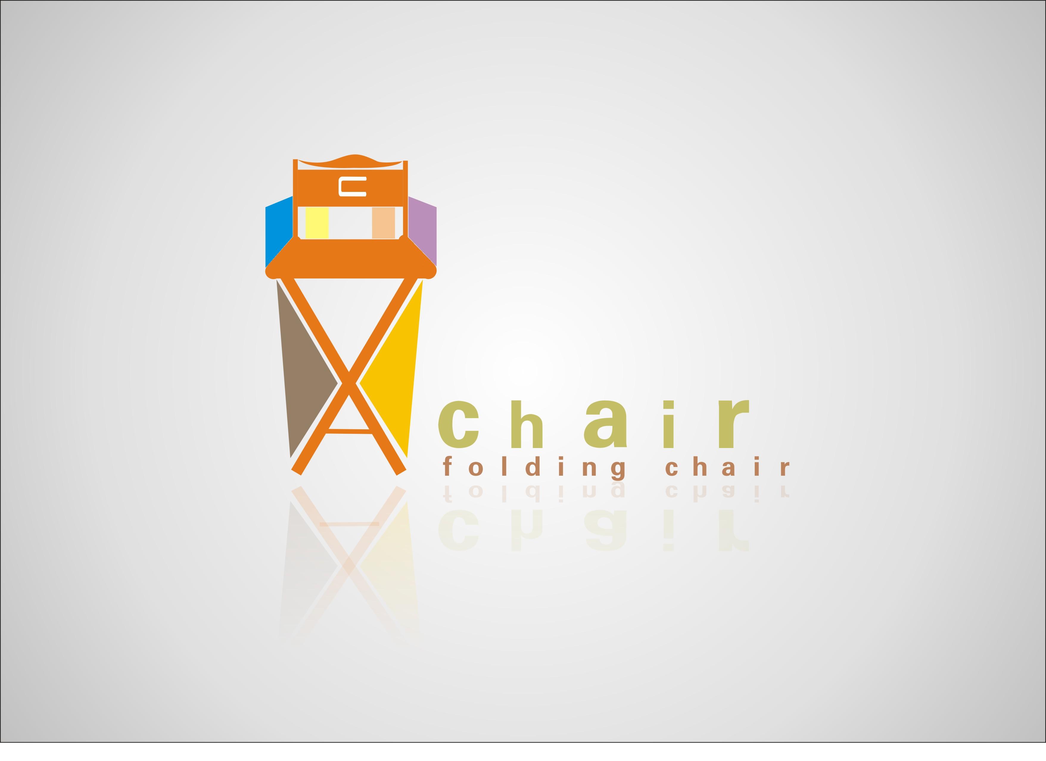 以折叠椅为元素设计的家具公司logo