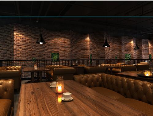 工业复古餐厅_江山设计旗舰店案例展示_一品威客网