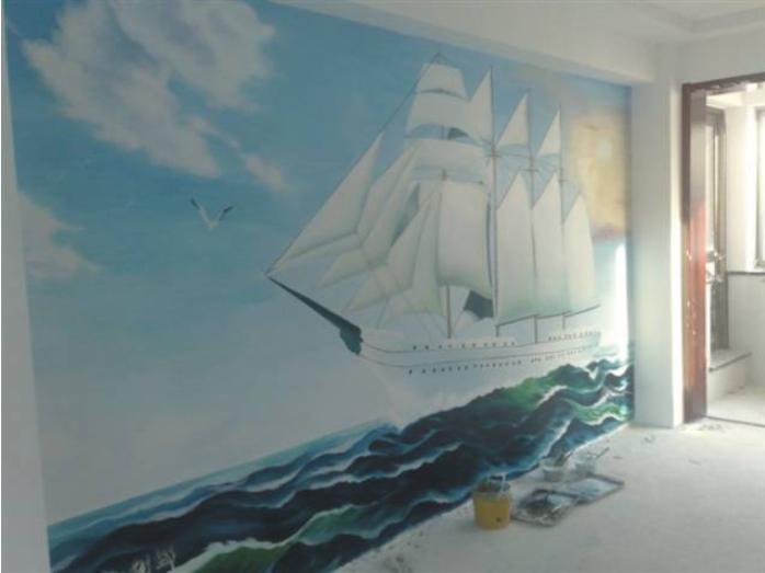 夏日元素的家装彩绘欣赏
