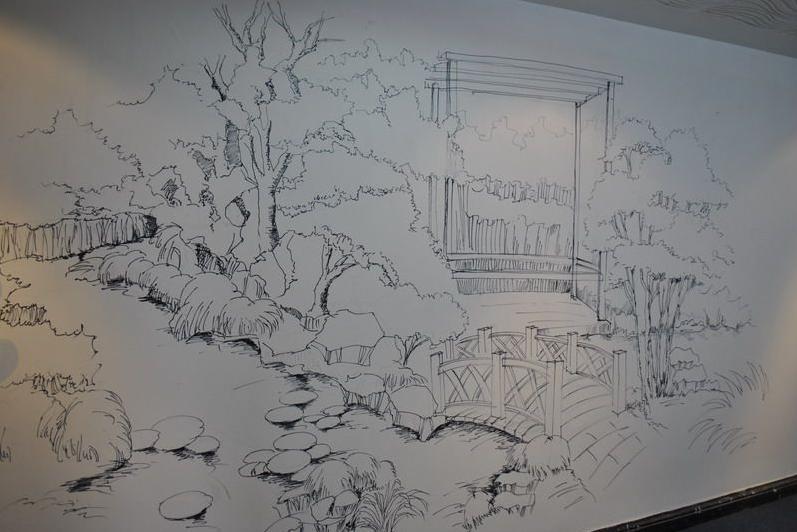 手工打造独特手绘墙面方法