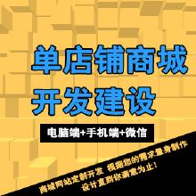 高端定制单店铺商城网站 PC+手机+微信(三网合一)