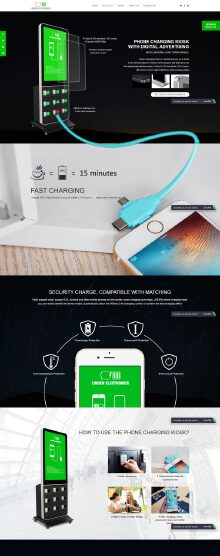 linden手机充电柜外贸营销型网站