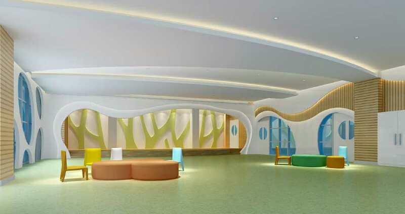 幼儿园前厅设计效果图_一品威客网公寓设计任务
