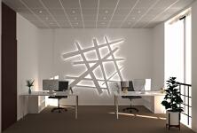 工装:办公室背景墙效果图
