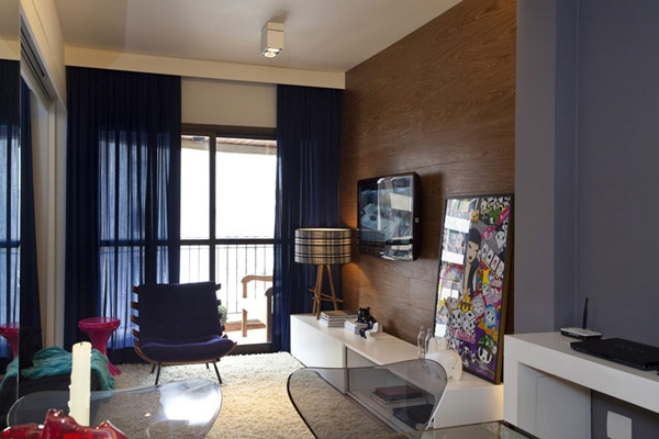 巴西圣保罗45平方米单身公寓室内设计欣赏
