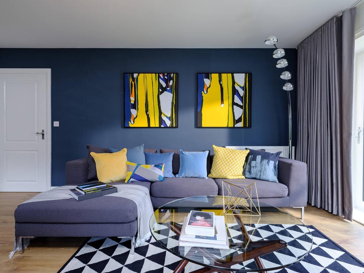 a农村放松的农村系蓝色装修设计816客厅房屋设计图图片