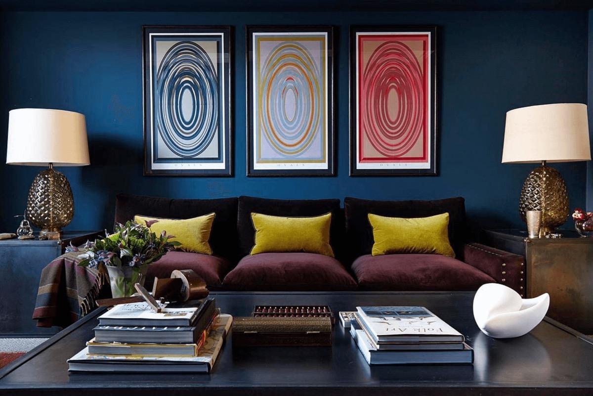 a蓝色放松的蓝色系景观装修设计客厅设计师的观点图片