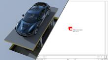 升降式立体车库结构设计