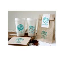 we coffee 天鹅图形logo设计vi设计