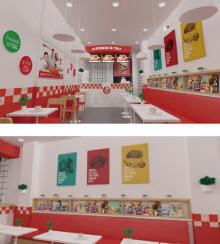 赛文披萨空间设计