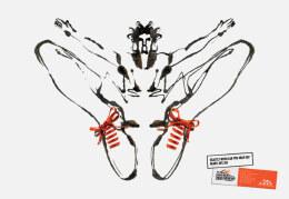 手繪運動鞋創意海報設計