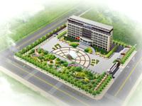 两套办公楼前广场园林景观设计