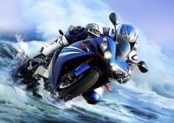 水中行驶的摩托数码照片处理教程