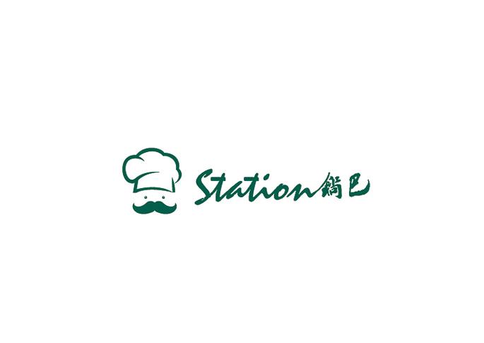 锅巴甜品店标志设计