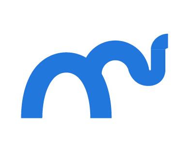 以大象元素logo设计