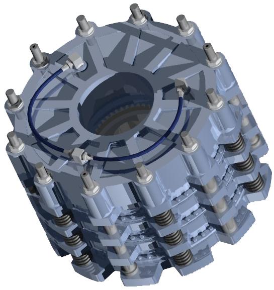 雙活塞水冷制動器設計開發