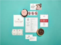 甜品店的创意VI设计作品,甜品店的VI设计欣赏