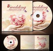 温馨浪漫婚礼cd封面设计