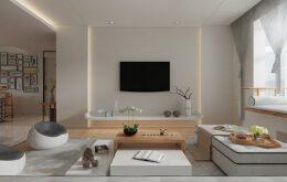 现代简约风格2居室中式装修设计