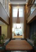 中式别墅客厅窗帘家装设计图