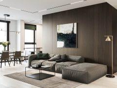 胡桃木饰面的家居装修设计