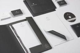 黑白简约信纸设计