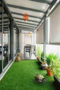 绿色现代阳台设计装修