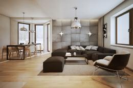中性色搭配的简约风格家居装修设计