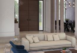 白色简约家居进门客厅玄关装修设计家装效果图