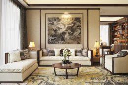 现代家庭中式装修效果图设计欣赏