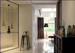 单调不失内涵的单身公寓户型图一角实景欣赏