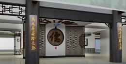 2018古香古色的书画展厅设计