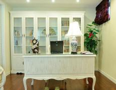 白色欧式风格博古架装修设计图片欣赏