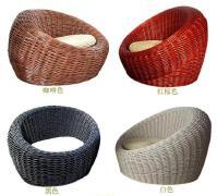 各种不同颜色的柳编沙发图片设计欣赏