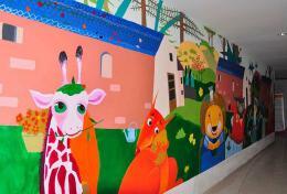 中国传统手绘墙画设计制作的美